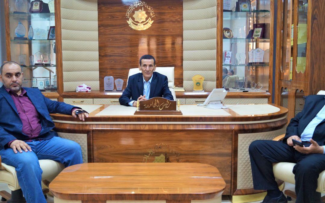 مراسم تسليم وإستلام مهام رئاسة الجامعة الأسمرية الإسلامية.