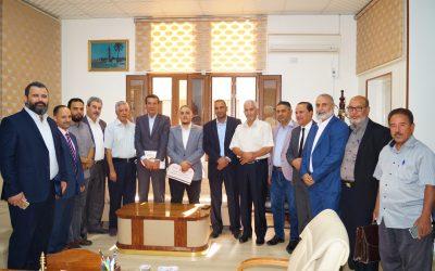 توقيع اتفاقية تعاون بين الجامعة الأسمرية الإسلامية والأكاديمية الليبية لفتح قاعات دراسة بالجامعة.